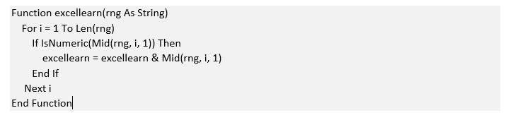 تفکیک عدد از حروف در اکسل (VBA)