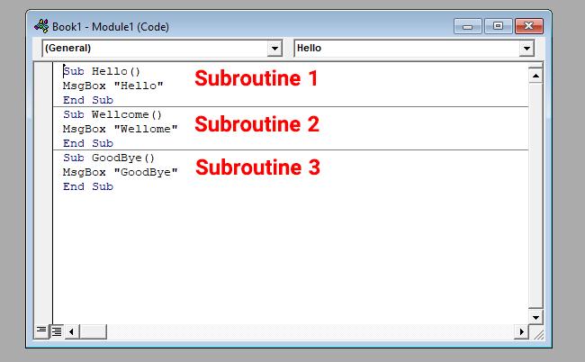 منظور از زیرروال یا سابروتین (subroutine) در ماکرونویسی