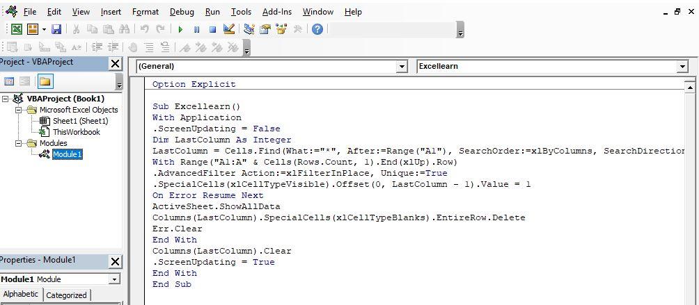 حذف داده های تکراری در یک ستون اکسل